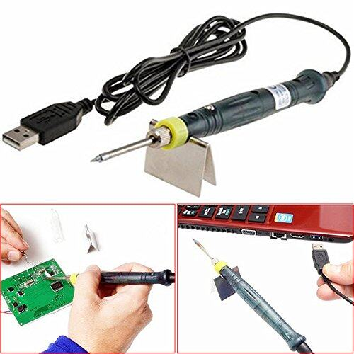 Hot Portable Electronic Tools USB Power Soldering Iron Long Life Tip + Touch Switch Protective Cap DC DIY Soldering Jobs 5V 8W with Stand Tool Kit - intl