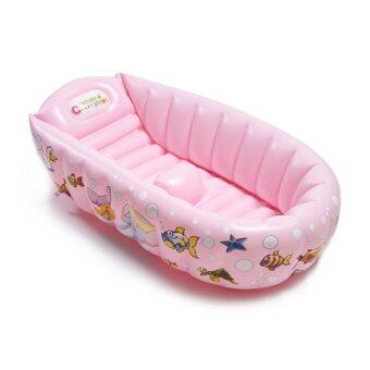 inflatable baby bath tub pink handpump lazada malaysia. Black Bedroom Furniture Sets. Home Design Ideas