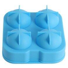 LALANG Hot Bar Big Round Ball Ice Brick Cube Maker Tray Mould Blue