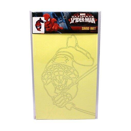 Marvel Avengers Assemble And Spiderman Sand Art - Multicolour