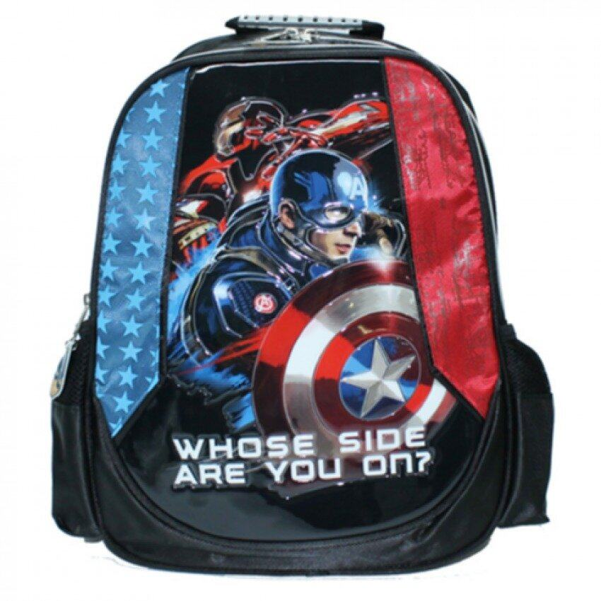 Marvel Avengers Captain America Civil War Backpack 14 Inches - Blue And Red Colour