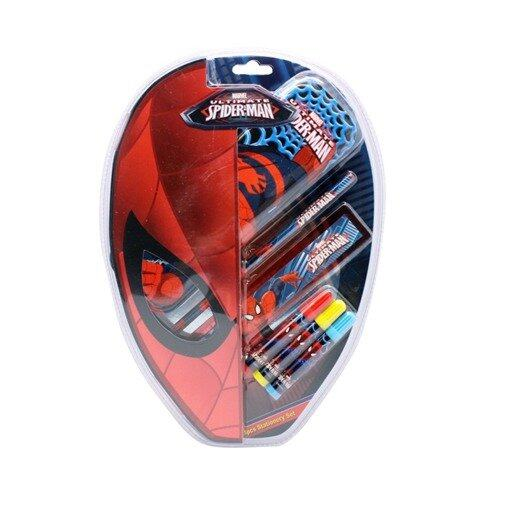 Marvel Spiderman 6pcs Stationery Set - Red Colour