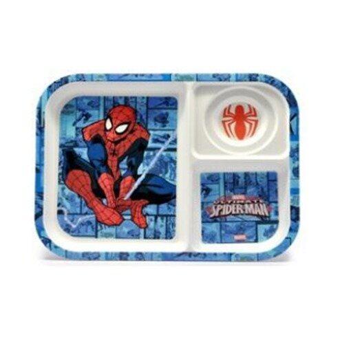 Marvel Spiderman Divided Plate - Blue Colour