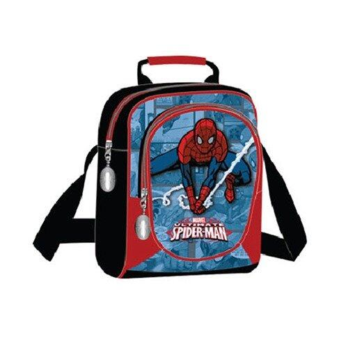 Marvel Spiderman Sling Bag 9 Inches - Black And Blue Colour