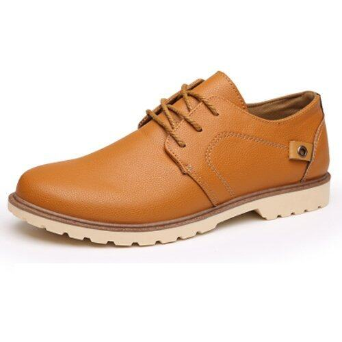 mens casual leather shoes style vogue breathable