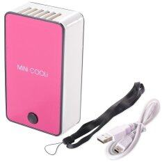 Mini Cooli Handheld Air Conditioner Cooling Fan USB Port (Pink)