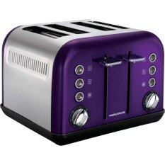 Morphy Richards Accents 4 Slice Toaster (Plum)