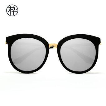 MUJOSH Black Round Oversize Sunglasses with QuickSilver ...