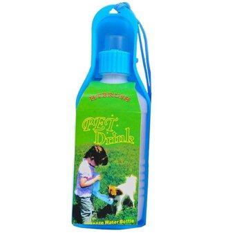 pet outdoor travel water feeder dispenser bottle 600ml