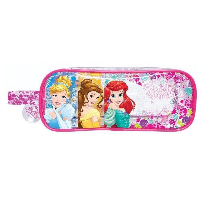 Disney Princess Square Pencil Bag Set - Red Colour