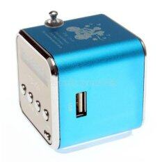Radio FM Music Box With Mp3 Player Functions. Micro SD, USB, Speaker TD-V26 - Blue Colour