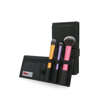 Real Techniques Travel Essentials Brush Set With  In  Case Stand