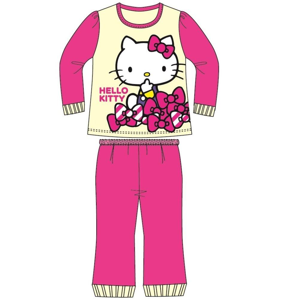 Sanrio Hello Kitty Homewear 100% Cotton 4yrs to 12yrs - Yellow Fuschia Colour