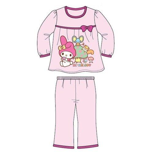 Sanrio Hello Kitty Melody Homewear 100% Cotton 4yrs to 12yrs - Light Pink Colour