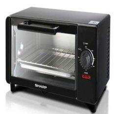 Sharp 6L Electric Oven Toaster EO6MTBK with Upper & Lower Quartz Heating Element