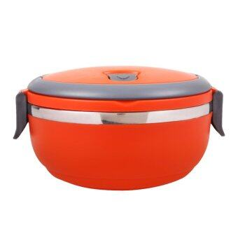 stainless steel thermal insulated lunch box bento food picnic orange laza. Black Bedroom Furniture Sets. Home Design Ideas