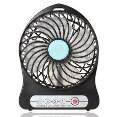 Super Wind Portable Rechargeable Mini Fan(include Li-ion 2200mAh Battery)Random color( BLACK& WHITE)
