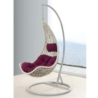 SW012 White Swing Chair Hammock with Cushion