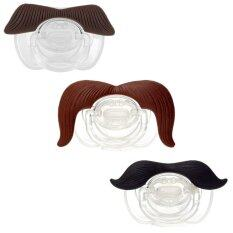 The Full Monty Assortment of 3 Mustache Pacifiers