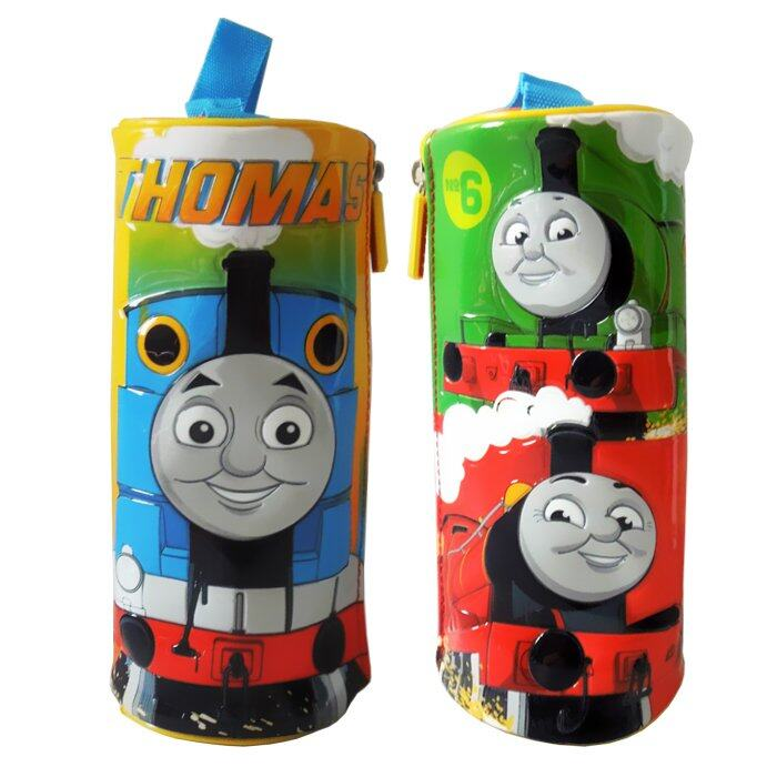 Thomas And Friends Round Pencil Bag - Blue, Green and Red Colour