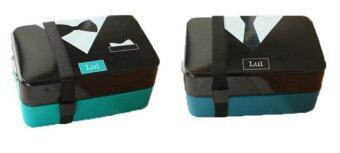 tie bow tie lunch box bento microwavetable lazada. Black Bedroom Furniture Sets. Home Design Ideas