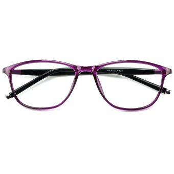 fd30f7282c9 TIJN Womens Cateye Oval Flex Clear Lens Glasses with RX-able Eyeglasses  Frames (Purple Sally Hansen Womens Prescription ...