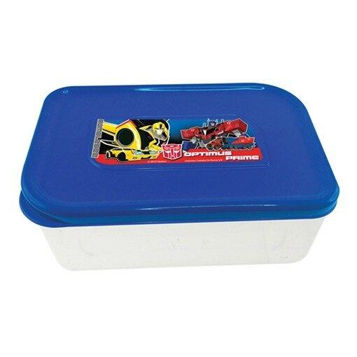 Transformers Square Lunch Box - Dark Blue Colour