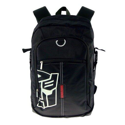 Transformers Teenager Backpack - Black Colour And White Colour Logo