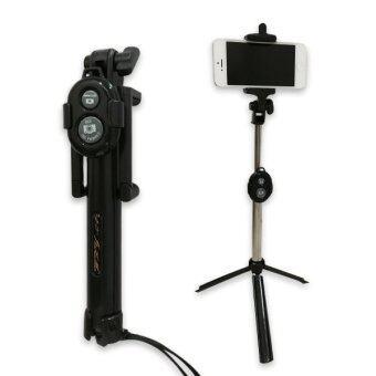 tripod selfie stick black lazada malaysia. Black Bedroom Furniture Sets. Home Design Ideas