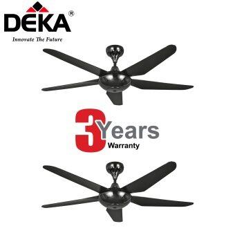 TWIN PACK DEKA X6N 5 Blades Gun Metal 56 Ceiling Fan