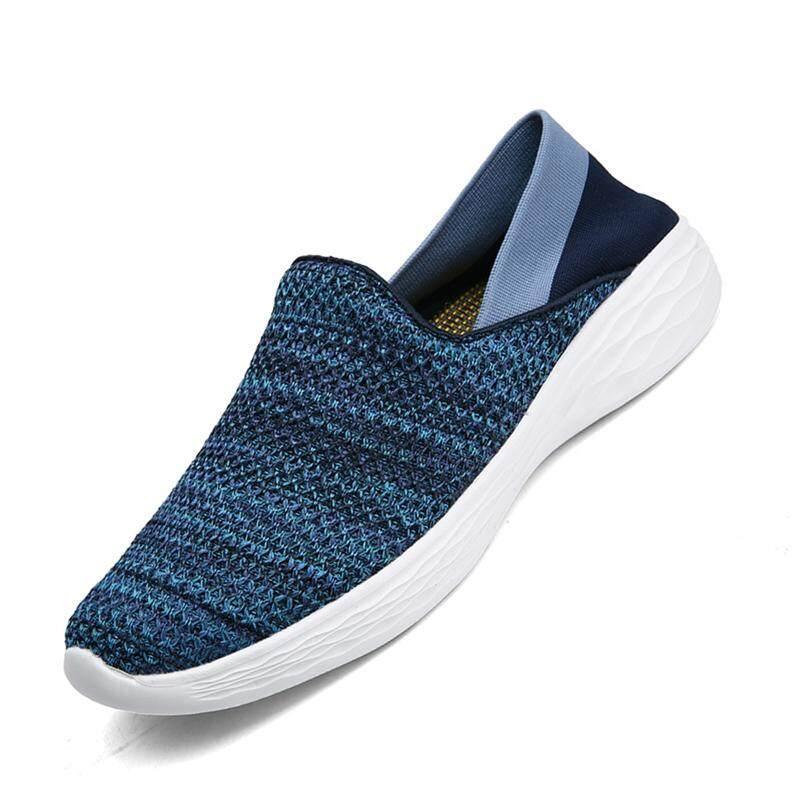 d69657cb77a5 Men And Women Walking Shoes Outsdoor Sport Sneaker Unique Feature Comfortable  Casual Shoes (Dark blue