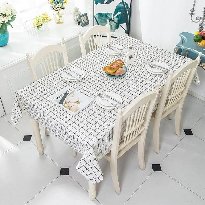 Pvc Rectangular Waterproof Oilproof Printed Plastic Table Covers