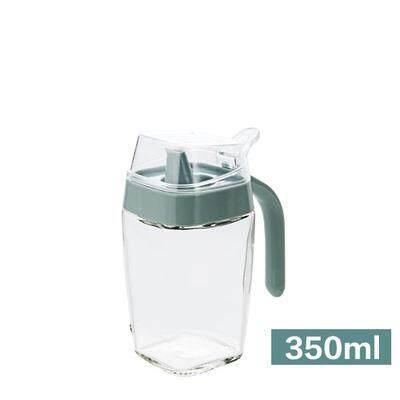 Hong biru pot minyak kaca ukuran besar/L dimuat botol minyak botol cuka botol minyak wijen dapur Barang Anti Bocor Tangki minyak wadah cuka botol kecap asin