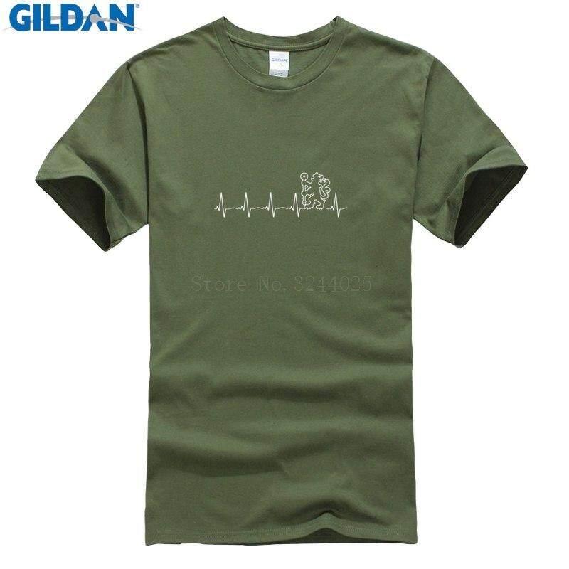 T Shirt Baru Membuat Pria T Shirt Penggemar Chelsea Detak Jantung Saya Anda Adalah Biru Lion T Shirt Musim Panas Lucu Kaos Atasan casuals