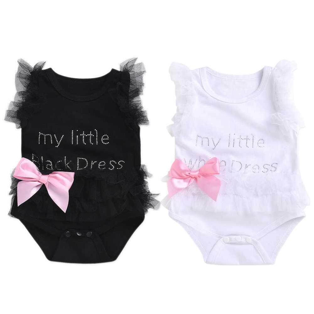 2ee17ec4900 Yifang Newborn Baby Girl Romper Jumpsuit Bodysuit Tutu Dress Clothes Outfit
