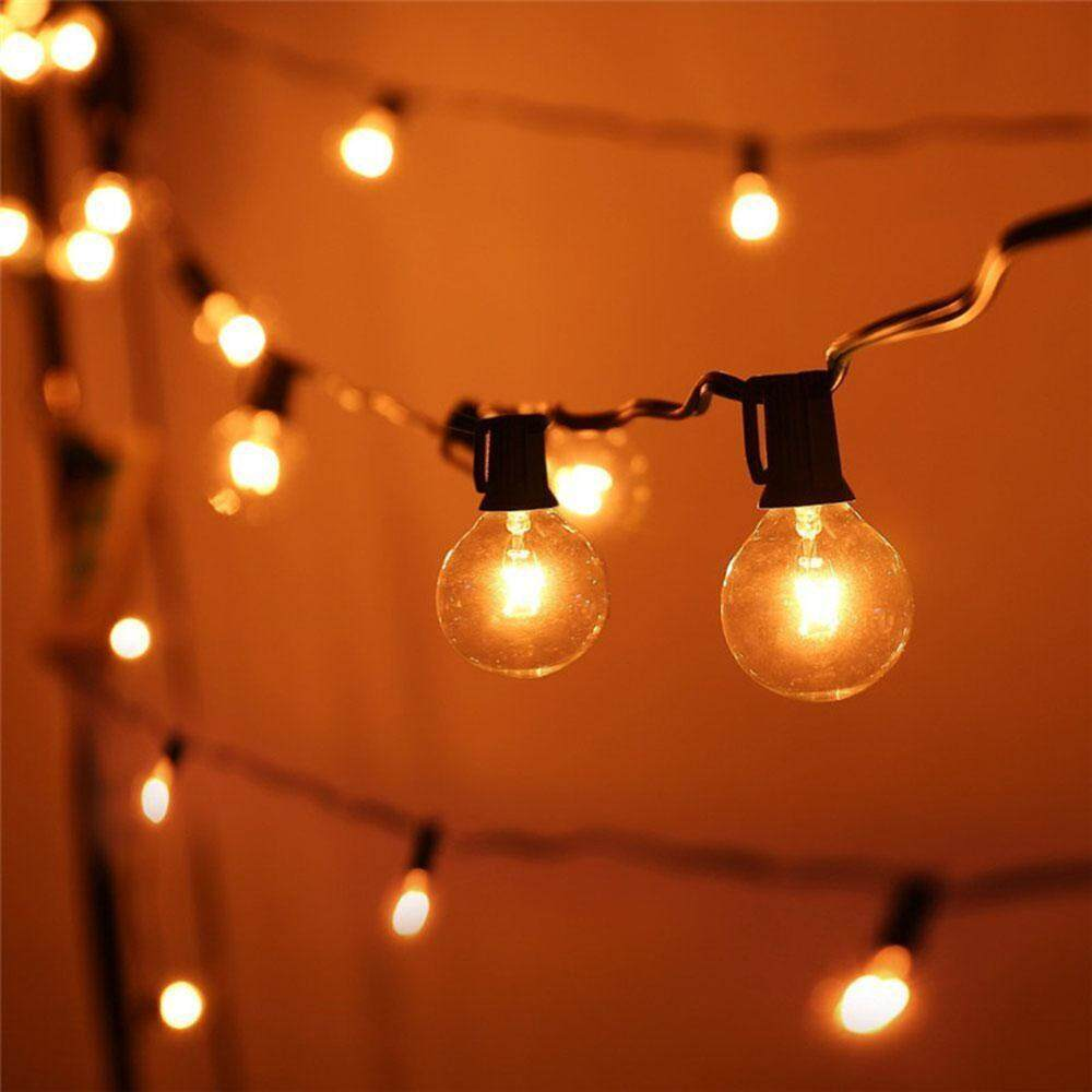 NiceToEmpty Outdoor Waterproof 25ft G40 Globe String Lights, Vintage Tungsten Wire Bulbs Lamp for Wedding Party, Gazebo, Porch, Home Decor, Perfect for Indoor and Outdoor, with 25 Bulbs, 3 Spare Bulbs]