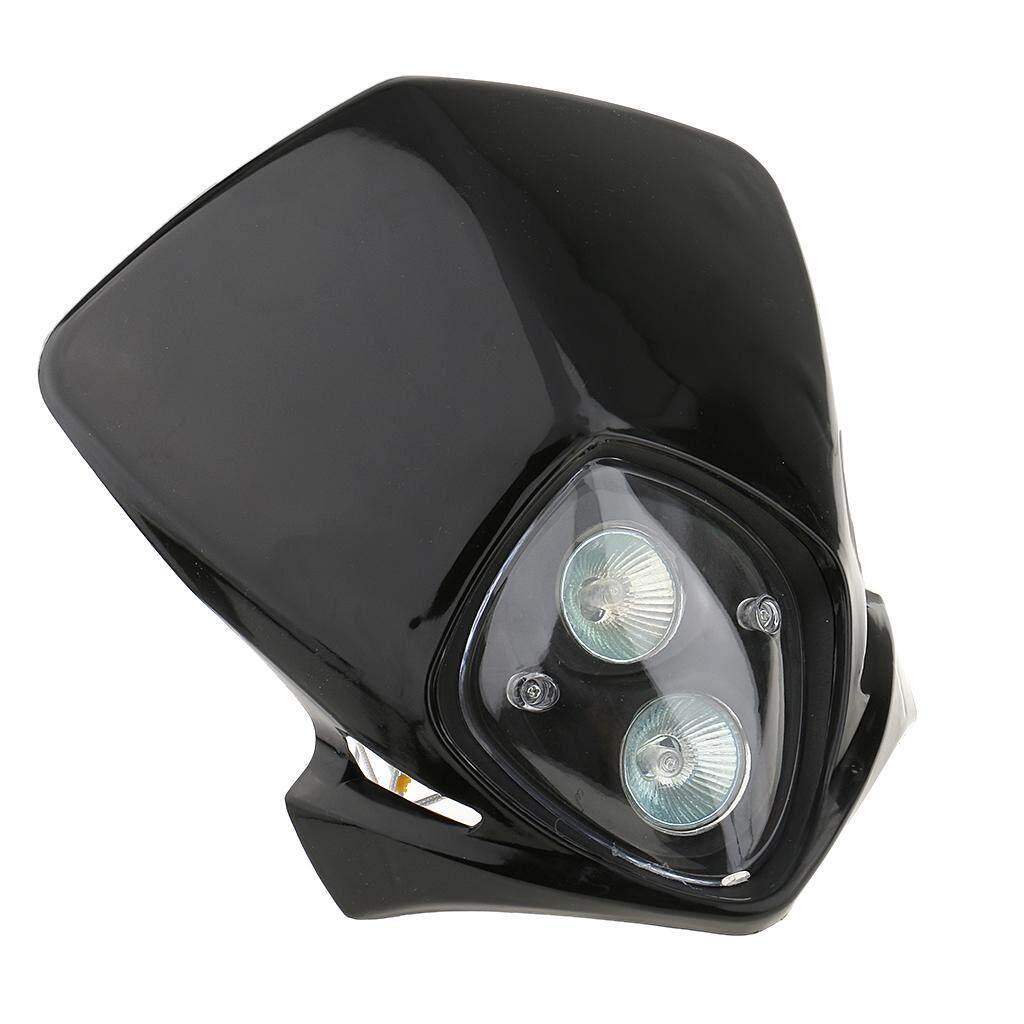 ... Keajaiban Bersinar Tinggi/Rendah Beam Lampu Utama LED Ganda Lampu Sepeda Motor Cafe RACER Sekolah ...