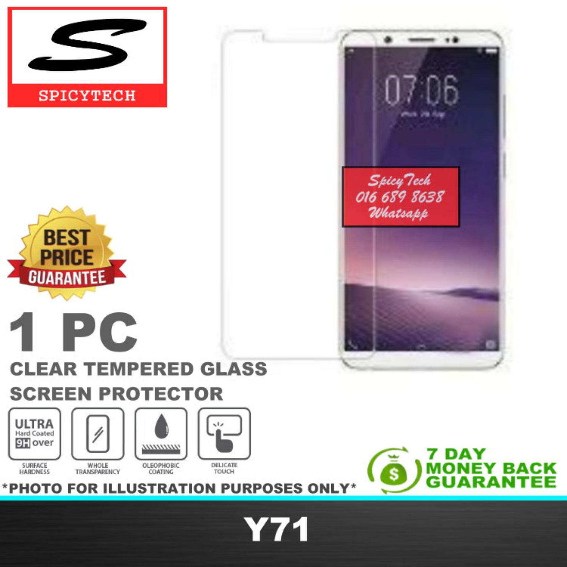 Fitur Tempered Glass Vivo Y71 9h Full Screen White Anti Gores Temperred Kaca Spicytech Premium 03mm 25d Protector Compatible For