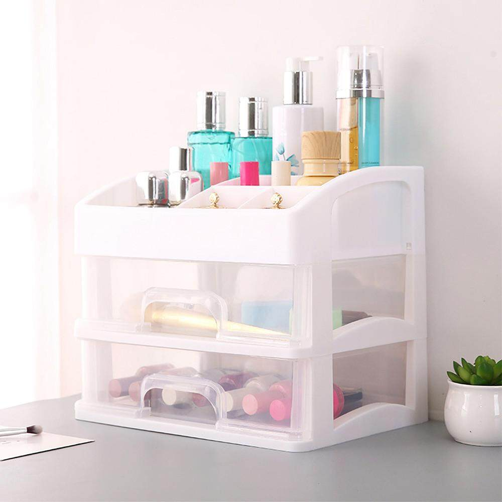 Senteniced Large Cosmetic Storage Box Table Drawer Type Skin Care Products Storage Rack
