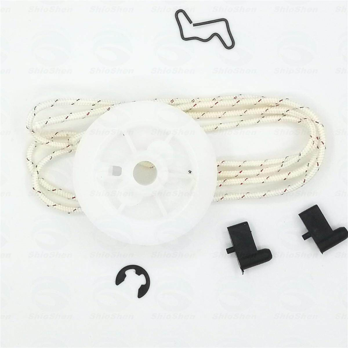Starter Pulley Starter Rope Spring Washer Pawl E-clip Recoil