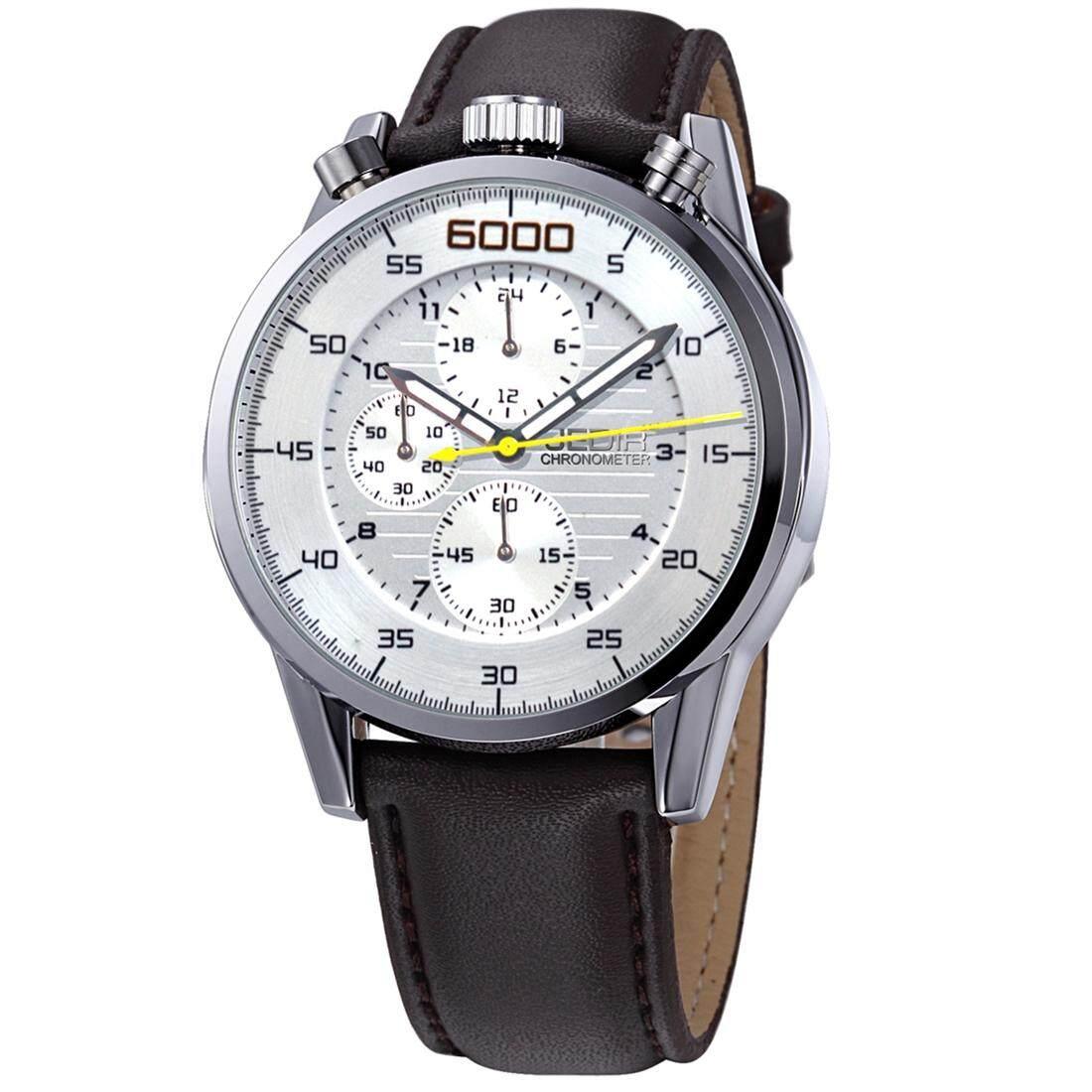 JEDIR 528004 3ATM Waterproof Arabic Numerals Scale Quartz Movement Three  Functional Sub Dials(24 Hours 64aef4abea2