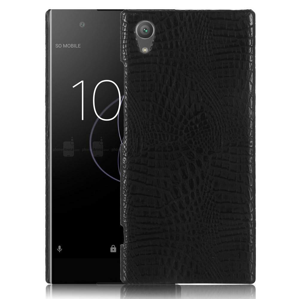 Untuk Sony XA1 Plus Case Kulit Kulit Buaya Mewah untuk Sony XA1 Plus Penutup Belakang Aksesoris