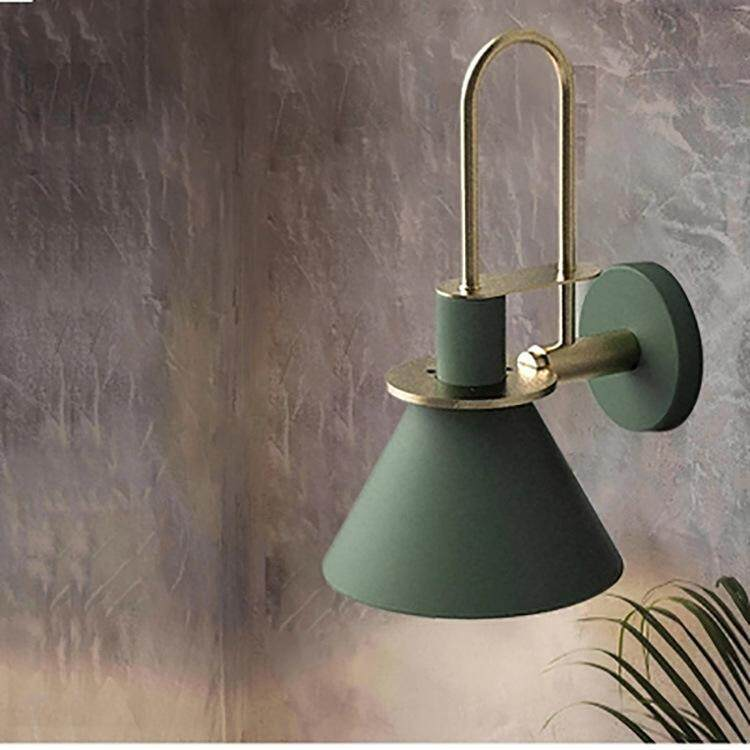 Modern style Nordic creative wall lamp E27 bulb living room stairs sconces aisle bedroom bedside iron wall lamp Singapore