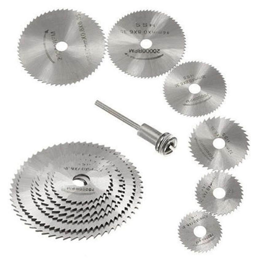 7 Pcs Mini High-Speed Steel HSS Circular Saw Web Blade Bit Cutting Discs Mandrel