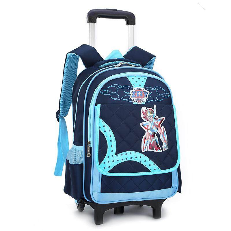 MWT9 Student Trolley School Bag Childrens Removable Backpack