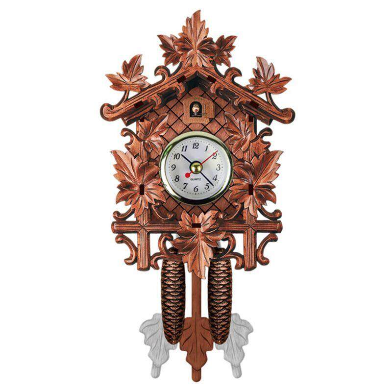 Vintage Home Decorative Bird Wall Clock Hanging Wood Cuckoo Clock Living Room Pendulum Clock Craft Art Clock For New House (brown #1) Free Shipping