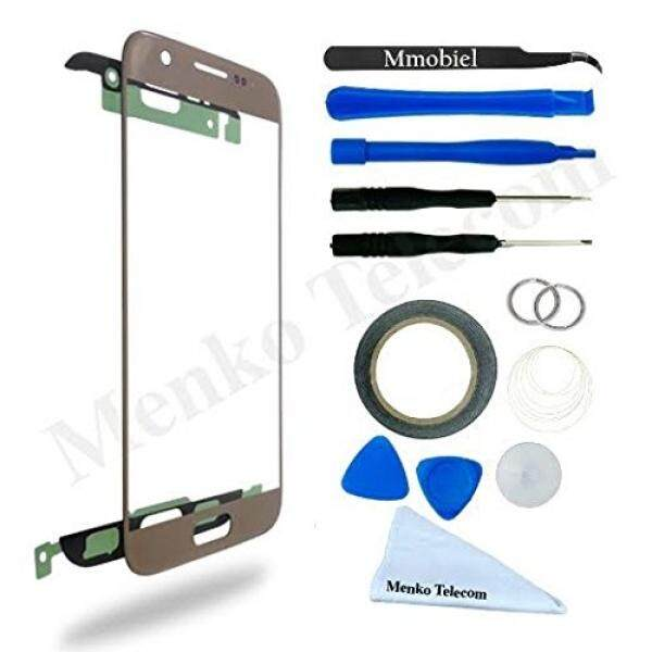 MMOBIEL Front Glass for Samsung Galaxy J7 J700 Series (Gold) Display Touchscreen incl Tool Kit / Pre-cut Sticker / Tweezers/ Roll of 2mm Adhesive Tape / Suction Cup / Metal Wire / cleaning cloth