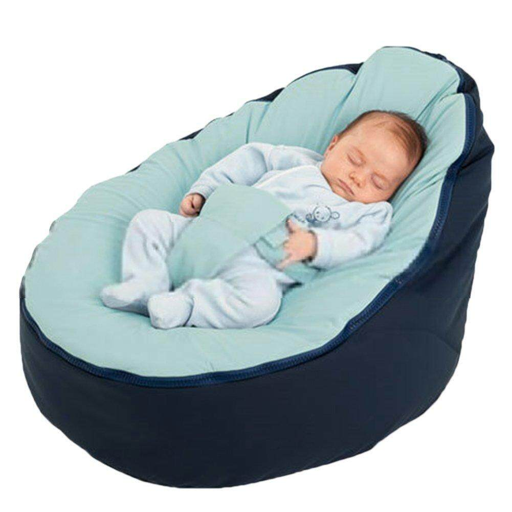 Super Comfortable Canvas Baby Infant Bean Bag Snuggle Bed Portable Seat Without Filling - Intl By Seville.