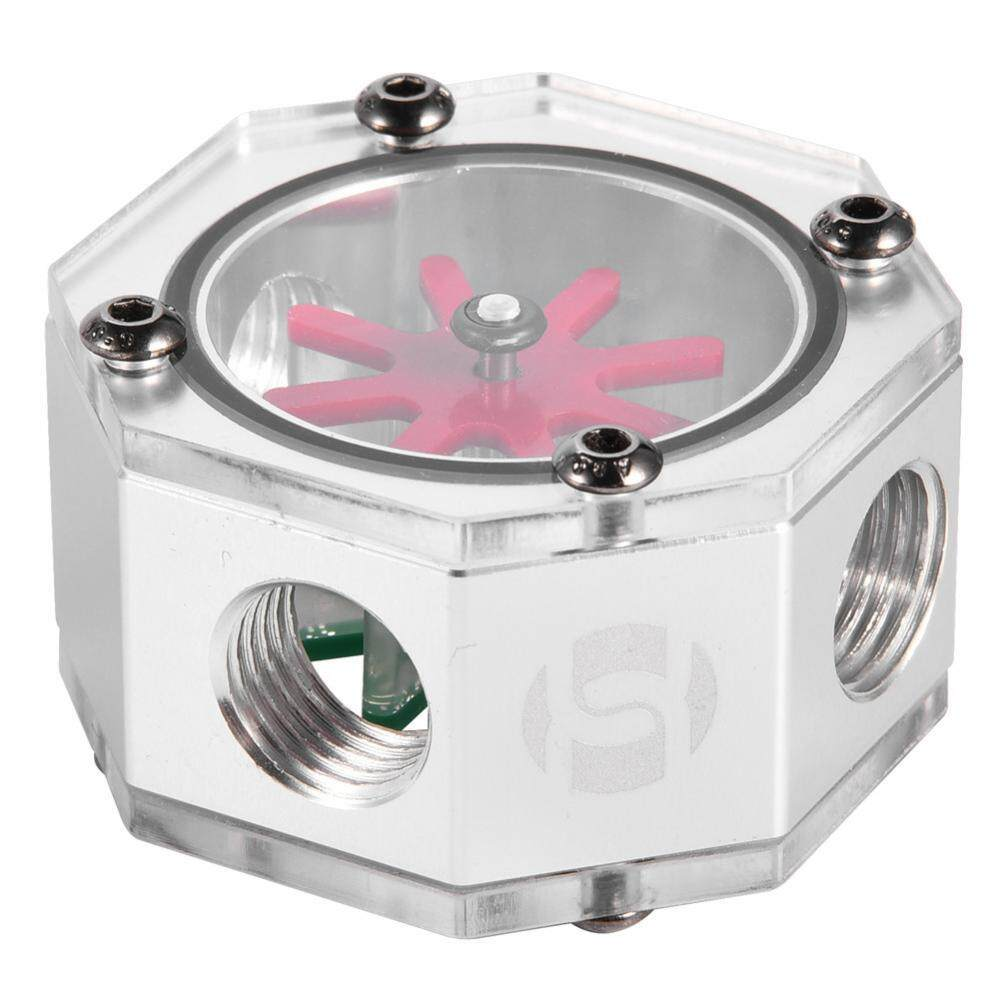 Aluminum Alloy G1/4 Thread Water Cooling Flow Meter Indicator for PC Water Cooling System