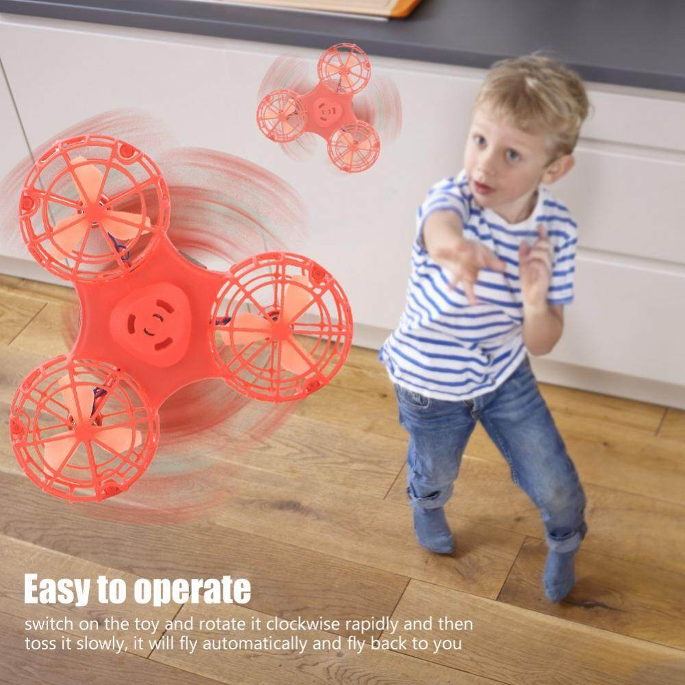 Hình ảnh Interesting Flying Toy USB Charging Stress Release Fly Back Game Toy For Kids Adults(Red) - intl